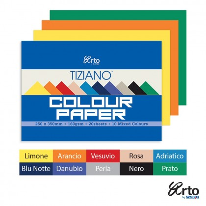 Arto by Campap - B4 Tiziano Pastel Colour Paper (10 Mixed Colours) in 1 pack